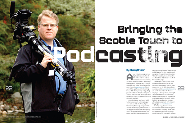 Scoble Podcasting magazine spread