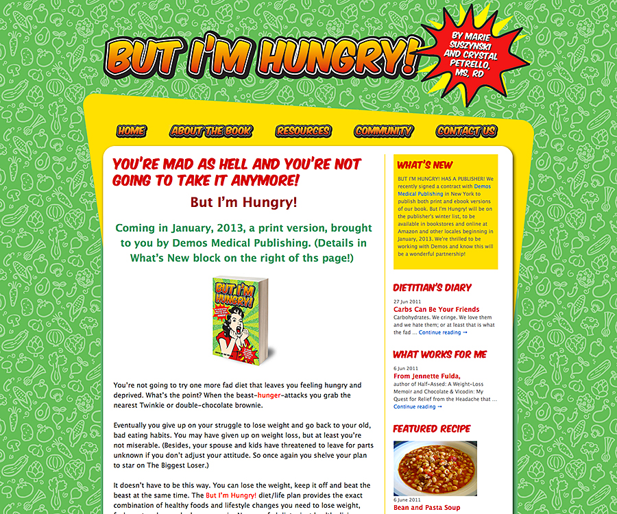 But I'm Hungry web site