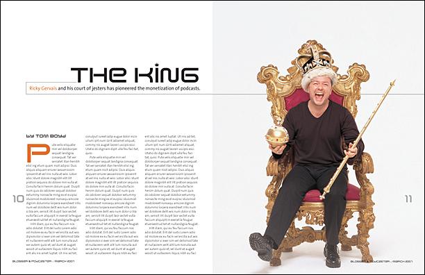 Ricky Gervais magazine spread