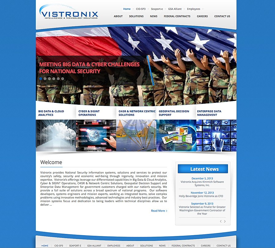 Vistronix web site